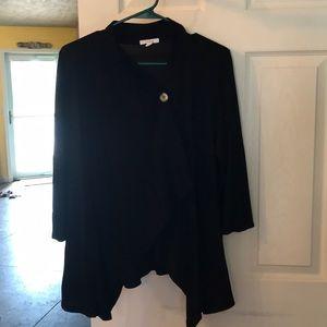 Super soft black 3/4 wrap cardigan worn once